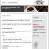 Mallee Foods Website Thumbnail